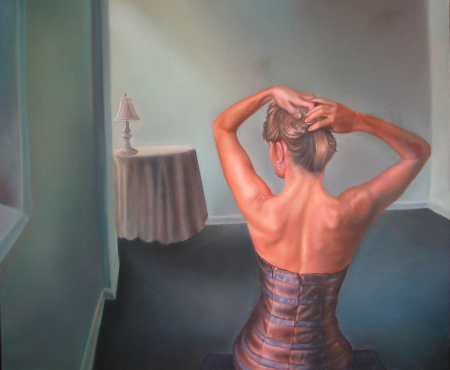 Girl in a Brown Dress (Back Study)