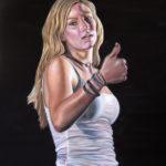 """Liz"" 24 x 18, Oil on Canvas"