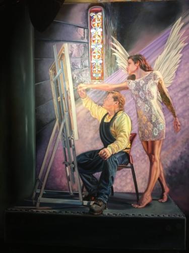 """Divine Direction"" 60"" x 48"", Oil on Canvas"